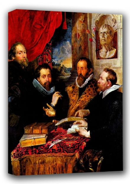 Rubens, Peter Paul: The Four Philosophers. Fine Art Canvas. Sizes: A4/A3/A2/A1 (001213)